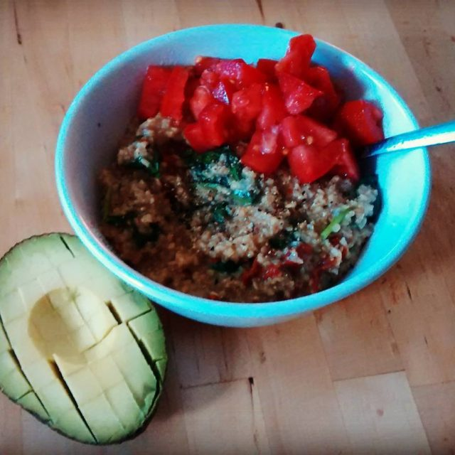 Totes into these oats! Savory steel cut oats with freshhellip