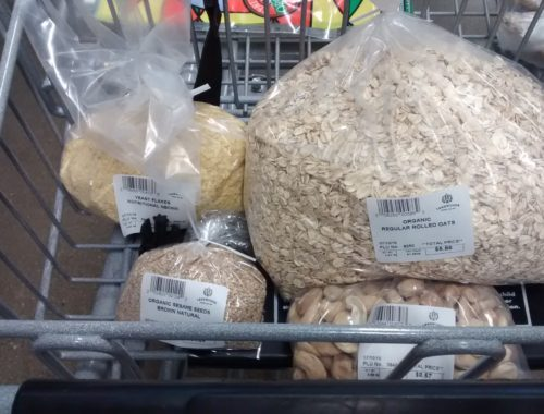 """Bulking up on rolled oats, """"nootch,"""" cashews, and sesame seeds."""