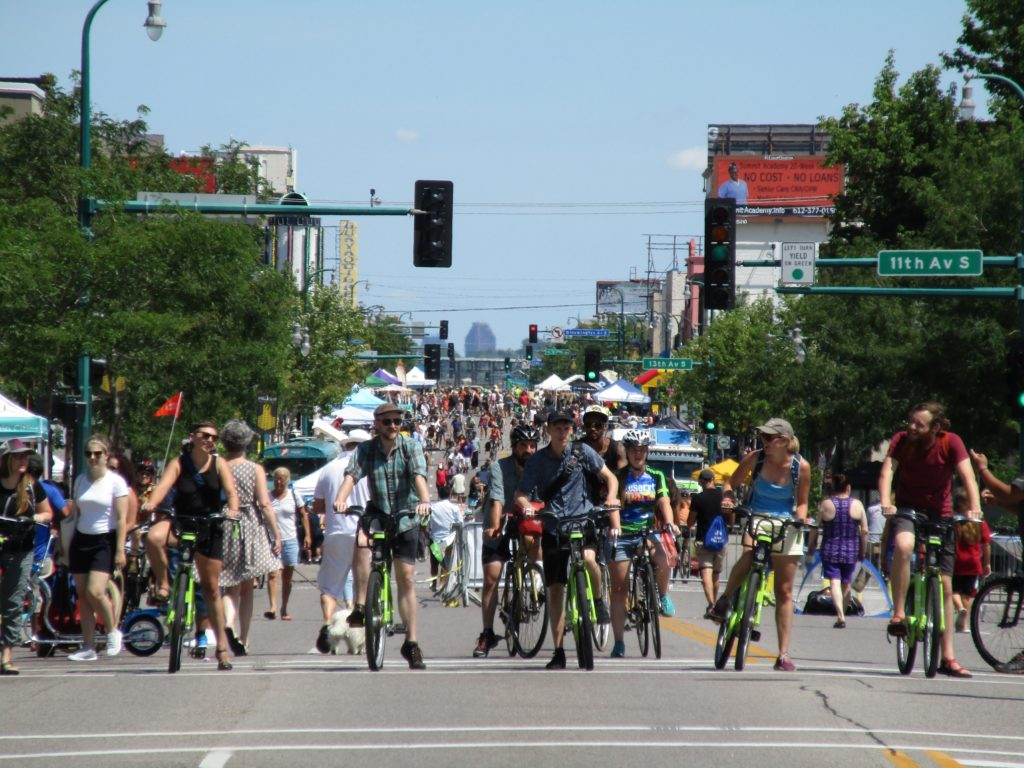 We spent the afternoon looking for plant-based street food at Open Streets Minneapolis Lake Street.